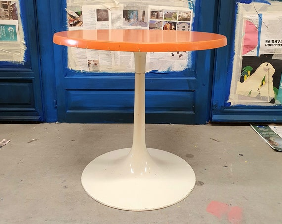 Orange tulip coffee table