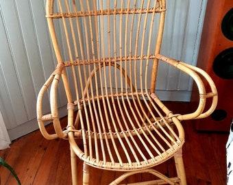 Vintage Rotin Chair