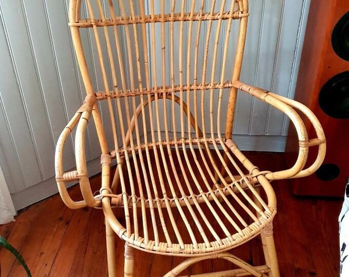 Featured listing image: Vintage Rotin Chair