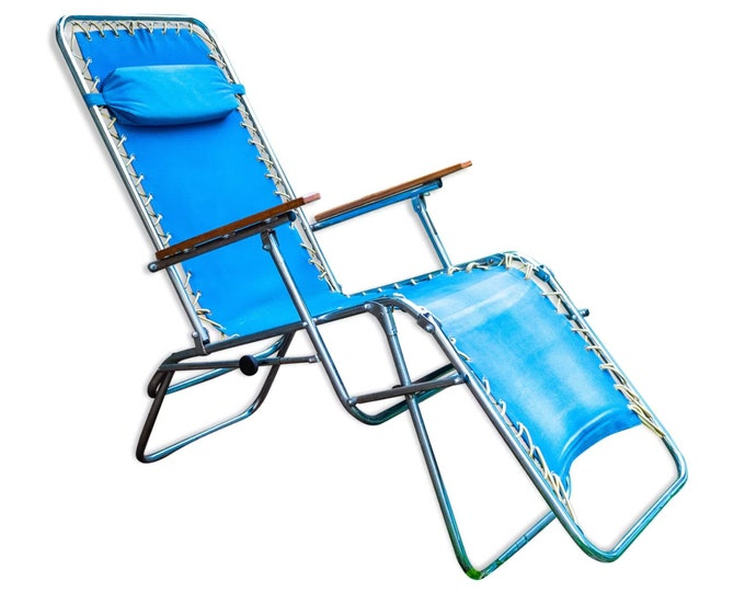 Vintage trigano sunlounger chair