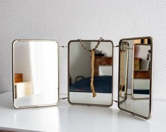 Triptych barber's mirror from the 1930s