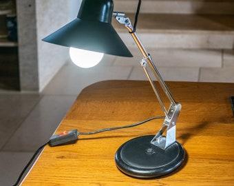 Black Aluminor articulated office lamp, 60s