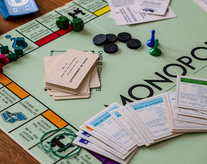 Monopoly board game of the 60s
