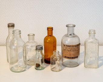 Lot of small apothecary vials