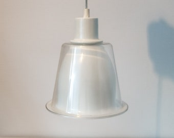 Contemporary White and Transparent Suspension