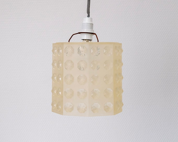 Vintage octagonal plexiglas suspension