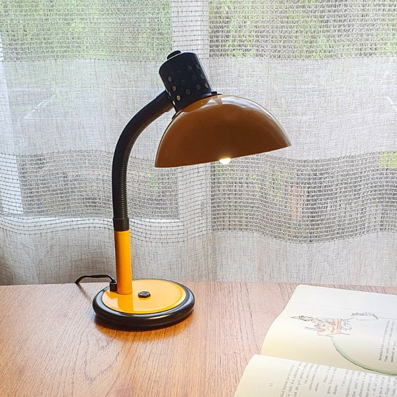 Yellow Aluminor desk lamp from the 70s