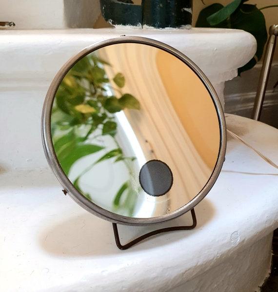 Backlit barber mirror