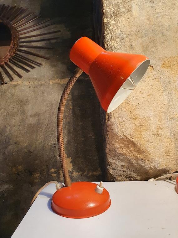 Orange office lamp