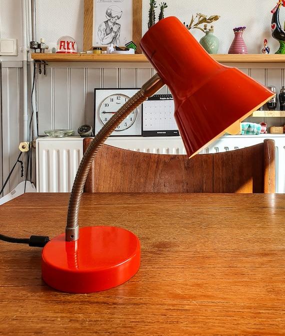 Small Orange lamp to lay, 80s