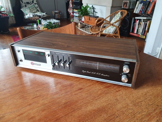 "Ampli tuner and cassette player ""Eight tracks"" - 70s"