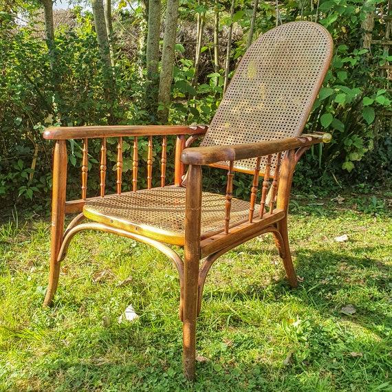 Fischel curved wooden adjustable chair, circa 1910