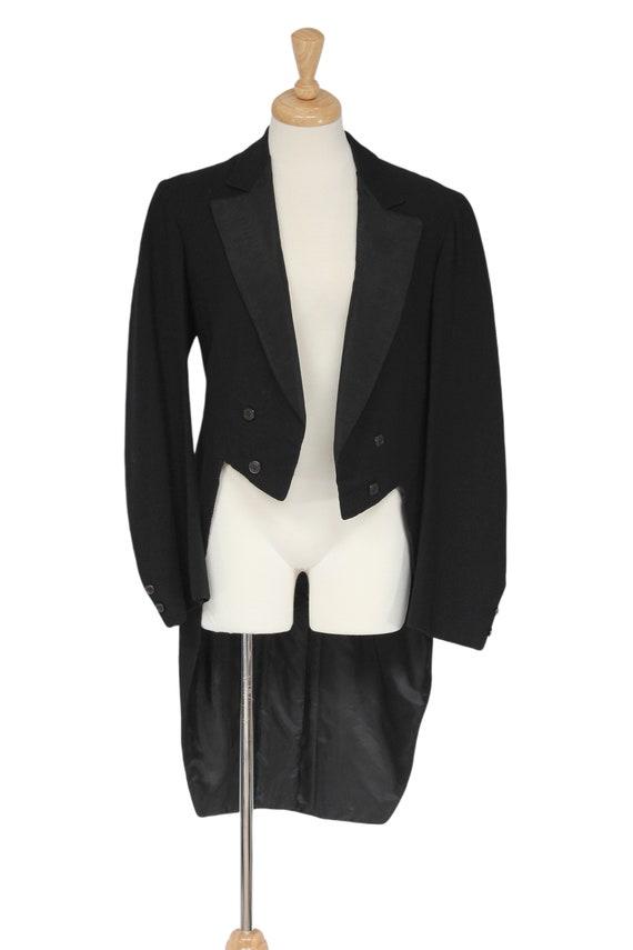 Black Vintage Tailcoat, 1930s Tailcoat, Steampunk… - image 1