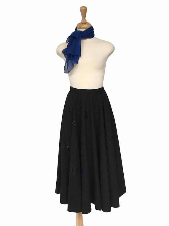 Vintage Clothing, 1950s Skirt, Wool skirt, Midi Sk