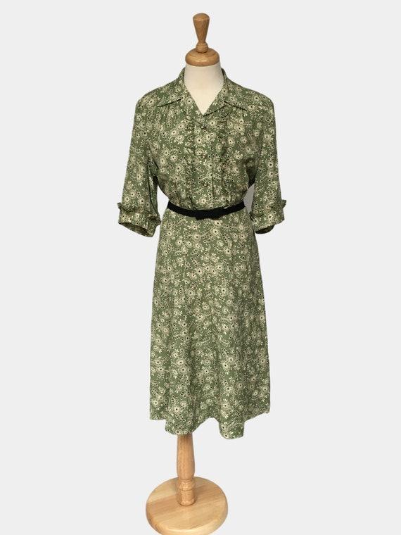 Vintage Dress, Summer Dress, 1940s Day Dress, Gard