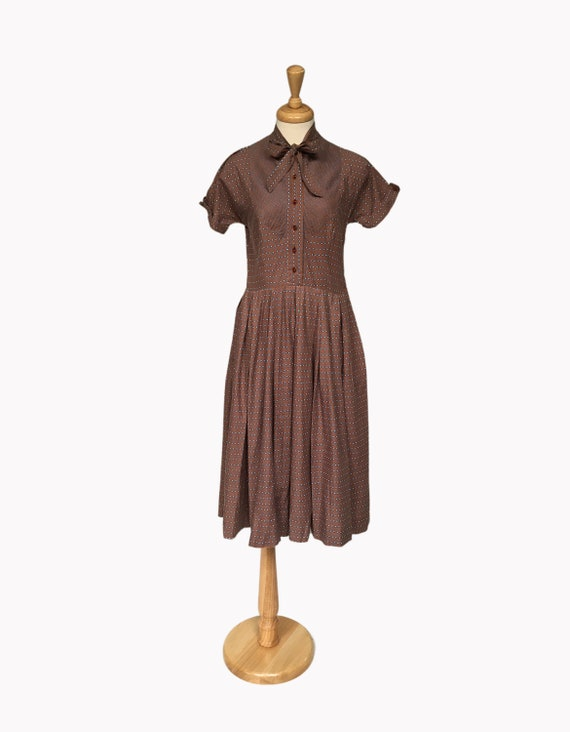 1940s Day Dress, Vintage Dress, Spring Dress, Summ