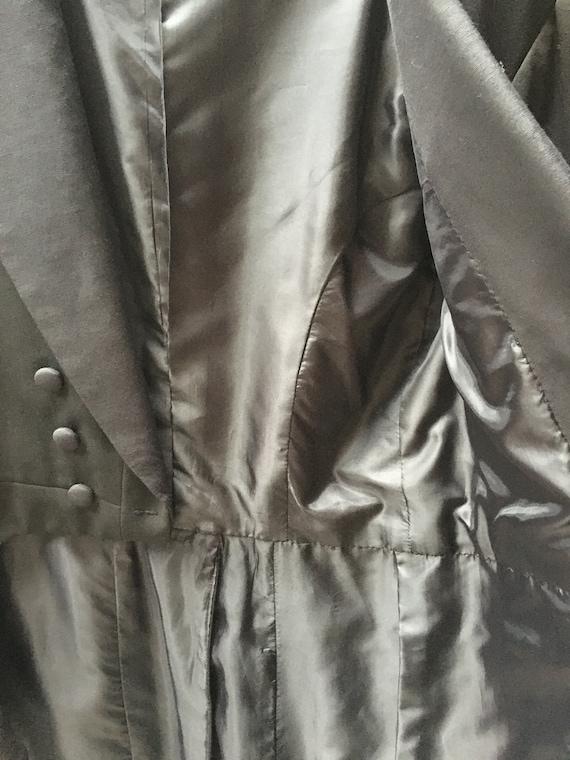 1930s Black Vintage Tailcoat, Steampunk Clothing,… - image 3