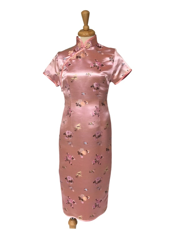 Cheongsam, Oriental Dress, Satin Dress, Cocktail D