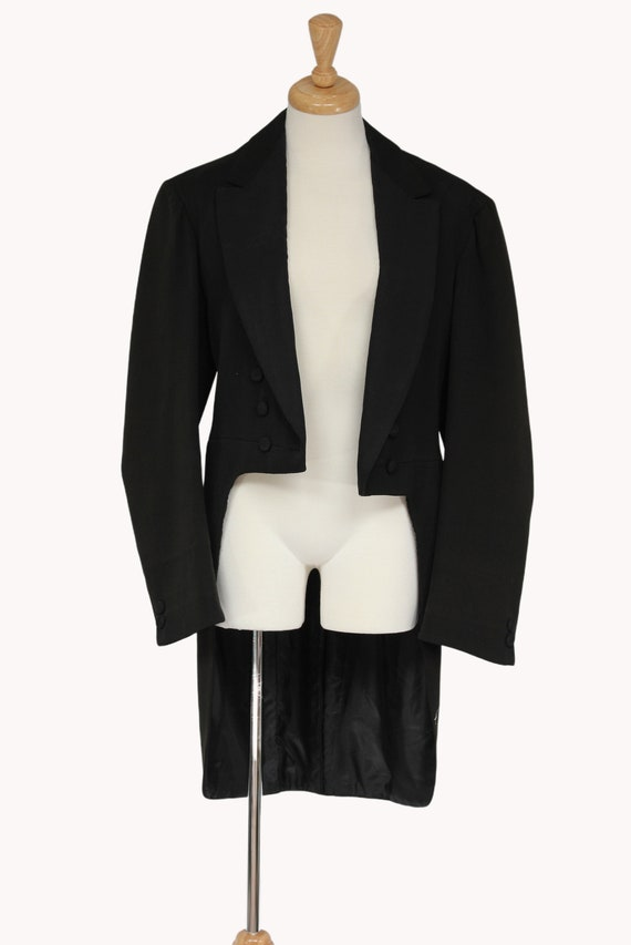 1930s Black Vintage Tailcoat, Steampunk Clothing,… - image 1