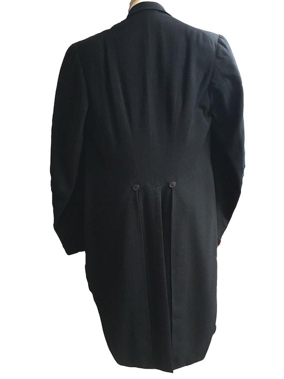 Black Vintage Tailcoat, 1930s Tailcoat, Steampunk… - image 2