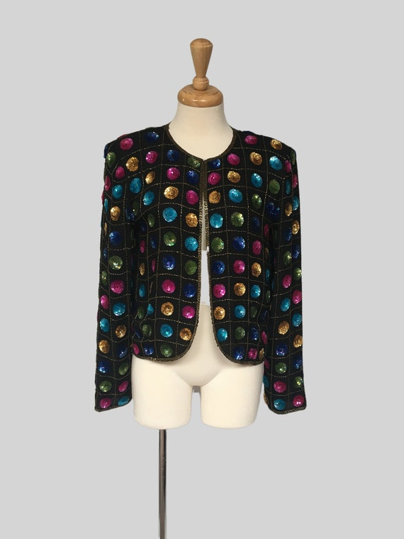 80s Clothing, Opera Coat, Bolero Jacket,  Vintage