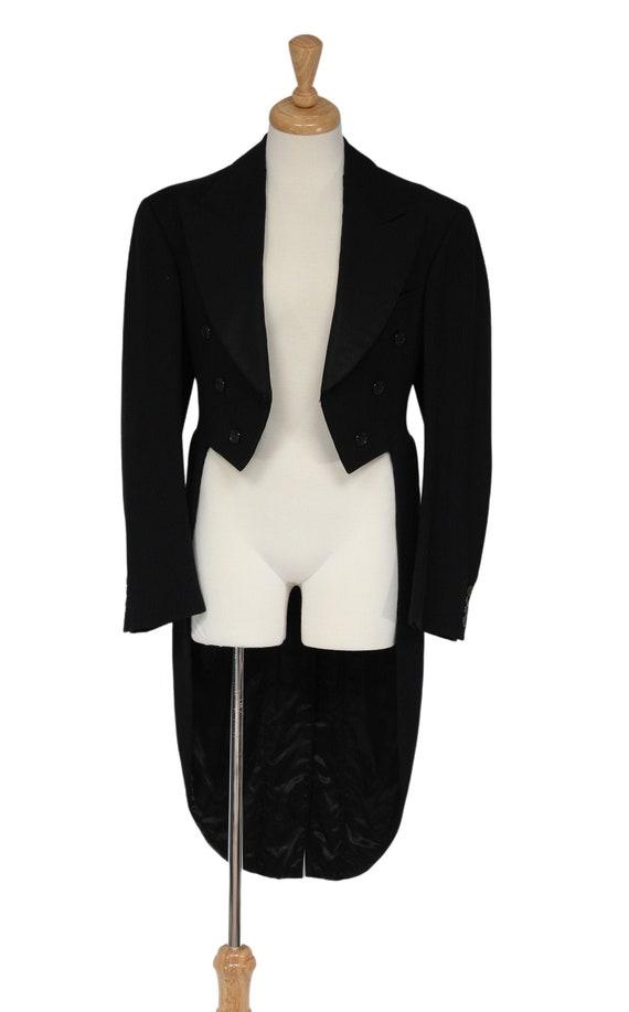 Steampunk Clothing, 1930s Black Vintage Tailcoat,