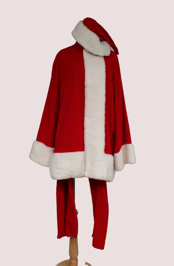 Handmade Vintage Santa Costume, Christmas costume