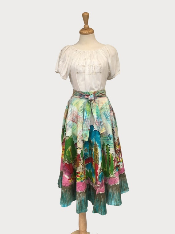 Circle Skirt, Mexican Skirt, Vintage Circle Skirt,