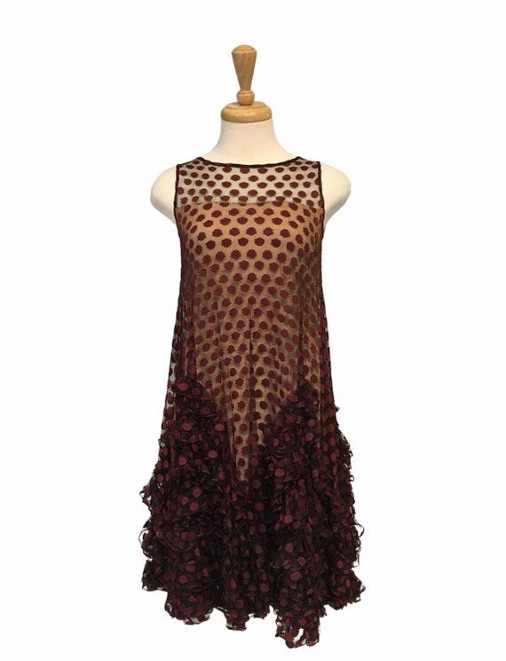 Wedding Guest Dress, 60s Dress, Tulle Dress, 60s M