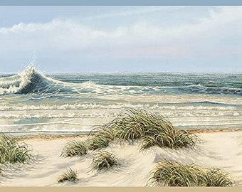 Dunes Beach Waves Wallpaper Border
