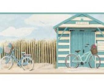 Beach Cruiser Wallpaper Border Teal BP8150bd