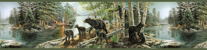 Salvador Green Bear Necessities Wallpaper Border TTL01531b