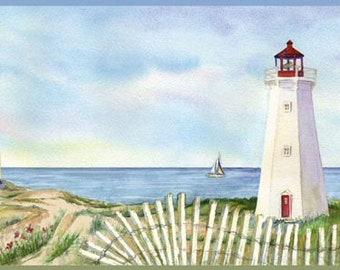 Coastal Lighthouse Wallpaper Border