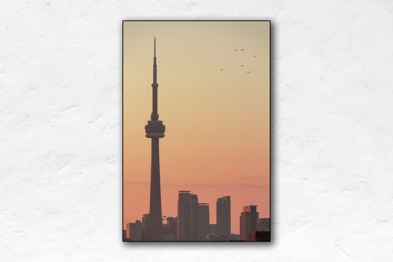 Sunrise Over CN Tower  Portrait  Toronto  Canada Travel image 0