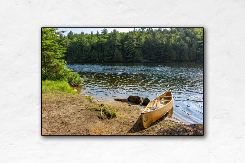 Canoe On Lake  Algonquin Park  Canada Travel Poster  Poster image 0