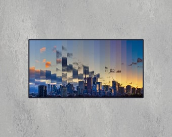 Toronto Skyline Timescape at Sunset – Toronto Wall Art – High Quality Lustre Print