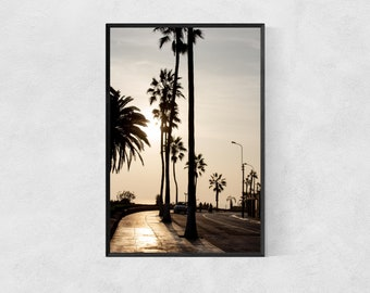 Palm Trees at Sunset – High Quality Lustre Print