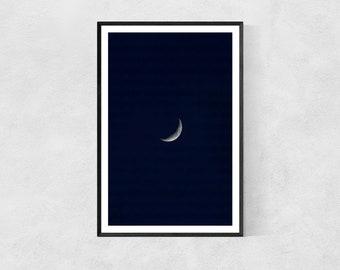 Moon Crescent – Wall Print – High Quality Lustre Print