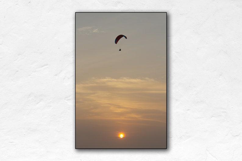 Paragliding  Lima Sunset  Peru Travel Poster  Poster Print image 0