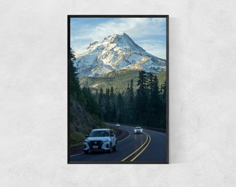 Mountain Road – Oregon Travel Poster – United States – High Quality Lustre Print