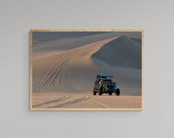 Sand Dunes Poster – Buggy Print – High Quality Lustre Print