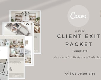Client Exit Packet Canva template, Client Off-Boarding template,  Interior Designer Off-Boarding Pack, Client Guide Interior