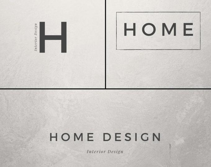 Interior Design Logo Template   Canva Logo   DIY Logo Design   Modern Logo   Classic Logo   Minimal
