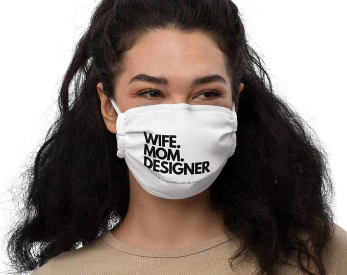 Wife Mom DESIGNER Mask   Mom Mask   DESIGNER Mama Mask   Gift for Mom   Boss Babe Gift   Girl Boss Mask   Mompreneur Mask
