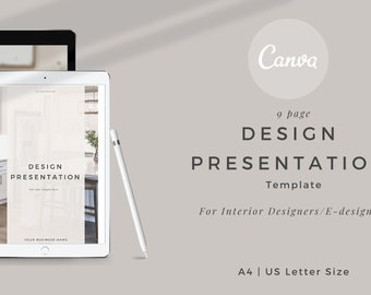 Interior design Design Presentation Canva Template
