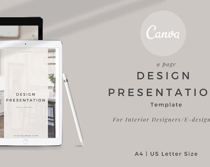 Featured listing image: Interior design Design Presentation Canva Template