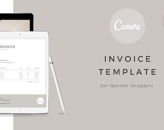 Interior Design Invoice Template