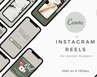 Instagram Reels Template, 10  Canva Instagram for Interior Designers, Reels Interior Design , IG story Home Decor Interior Design Template