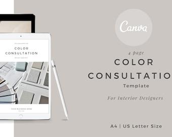 Interior design Color Consult Canva template