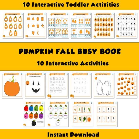 Pumpkin Busy Binder Fall Autumn Busy Book Halloween Busy